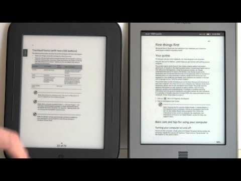 Kindle Touch Vs. Nook Simple Touch Comparison