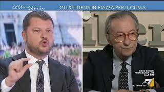 """Vittorio Feltri vs Gennaro Migliore: """"Parla Rubbia ed è come se parlasse uno stupido, vai a ..."""