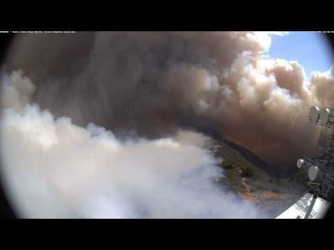 HPWREN Live Stream - Whittier Fire as seen from Santa Ynez Peak