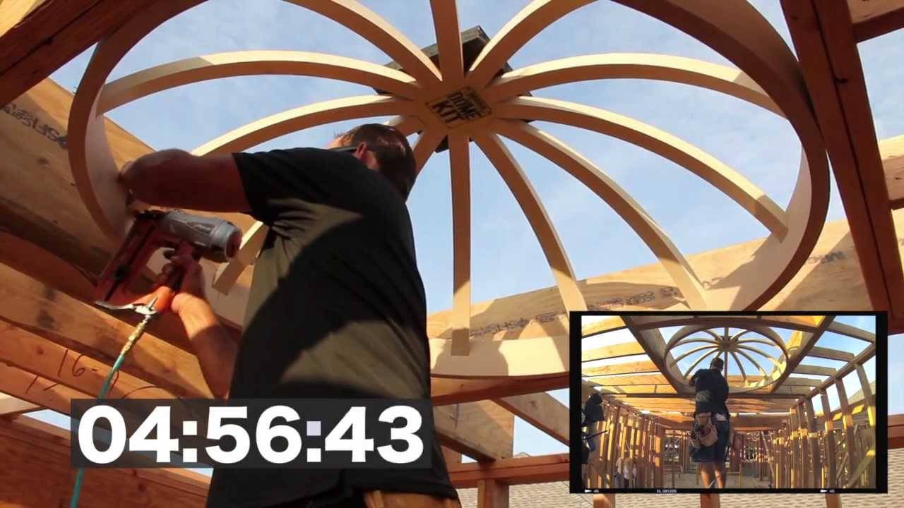 dome ceiling construction in 4 minutes and 58 seconds: universal
