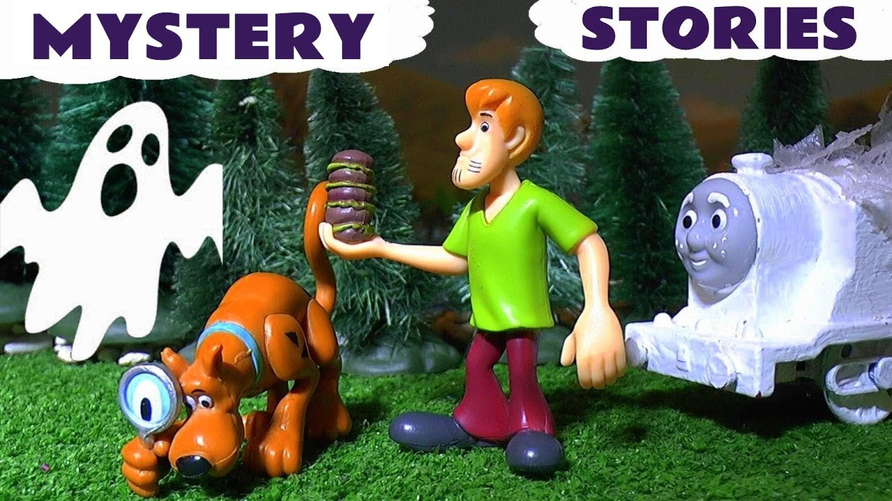 scooby doo spooky stories with thomas & friends toy trains play doh