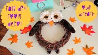 DIY Fall Room Decor - Owl Wreath Thumbnail