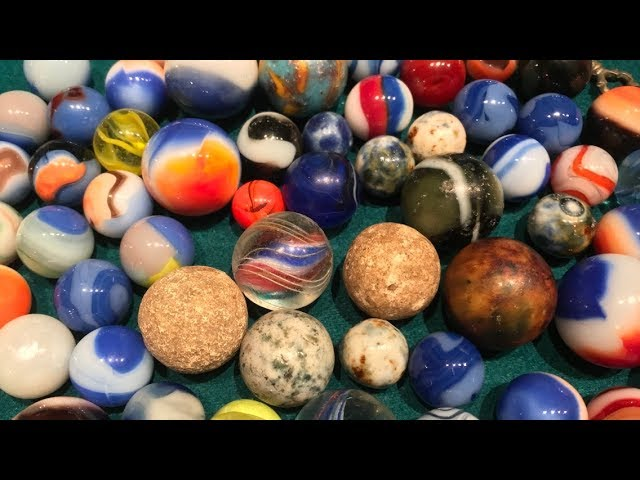 Rare Valuable Marbles From The 1800 S My Lost Marble Collection Vintage Toys Youtube