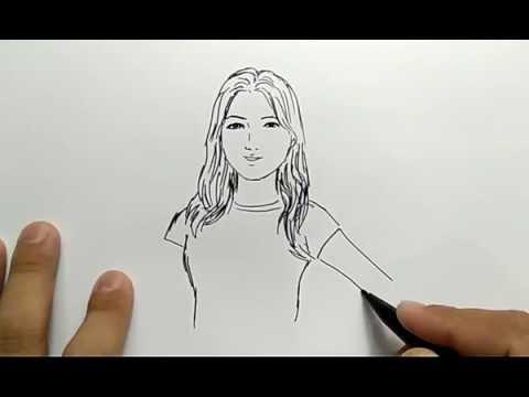cara menggambar orang wajah cewek cantik dengan gampang