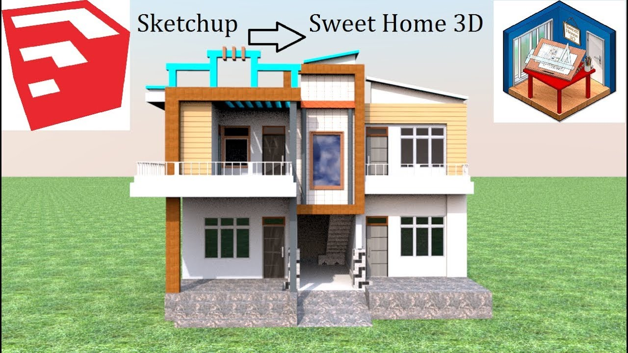 Or click on the link under each image to. How To Import Any Model From Sketchup In Sweet Home 3d Youtube