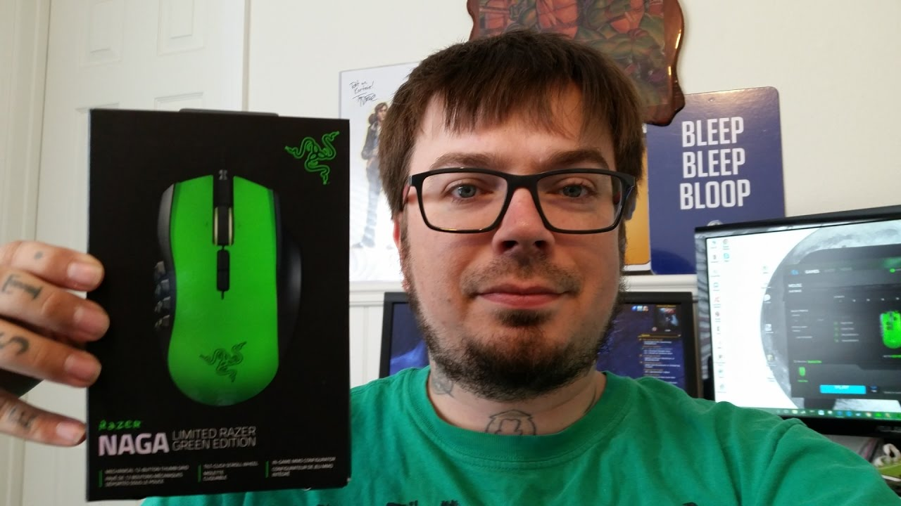 Razer Naga Limited Edition Green Review Youtube Hex Mmo 2014 Hexagram V2 Free Mouse Pad
