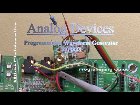 AD 9833 Waveform Generator, programming with MikroElektronika's MikroC Pro for Pic32