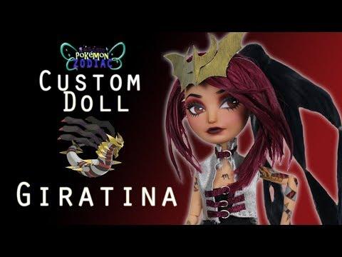 [POKEMON ZODIAC #4] Custom Doll Repaint! Scorpio Giratina Legendary MH/EAH OOAK