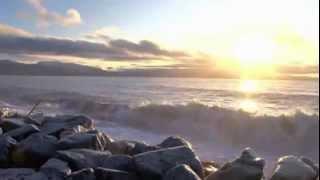 أمواج البحر مع موسيقى هادئة للاسترخاء والتأمل