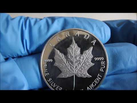 FAKE SILVER. The 2013 Canadian Maple Leaf.