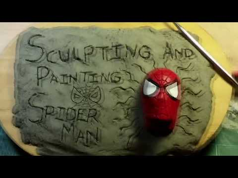 Sculpting and Painting a Spider Man Head Magnet