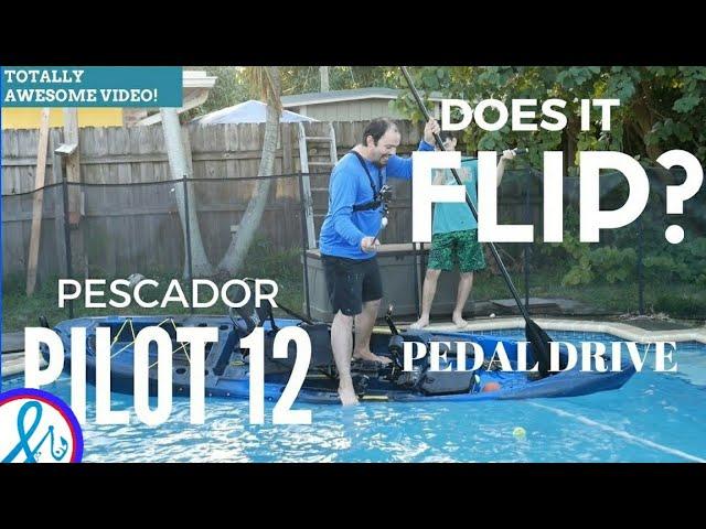 Perception Pescador Pilot 12 Pedal Kayak CRAZY Stability Test Does IT FLIP?