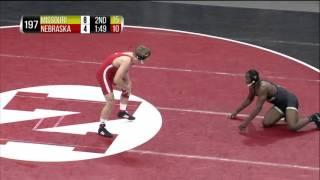 Missouri Tigers at Nebraska Cornhuskers Wrestling: 197 Pounds - Cox vs. Studebaker