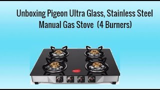 5861f7f863d Pigeon Blackline Square Glass Manual Gas Stove 4 Burners price in ...