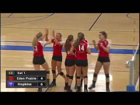 Eden Prairie vs. Hopkins Girls High School Volleyball