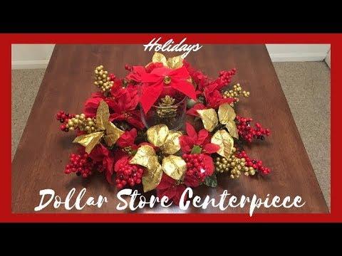 Simple & Cheap  Dollar store Christmas centerpiece (READ DESCRIPTION FOR DETAILED INFO!)