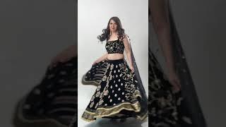 Kabhi Parakhta Nain Mere Tu Kabhi Parakhta Tor! Ambarsariya! Black Bridal Reception Lehenga ❤️🔥🖤