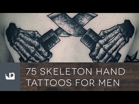 75 Skeleton Hand Tattoos For Men