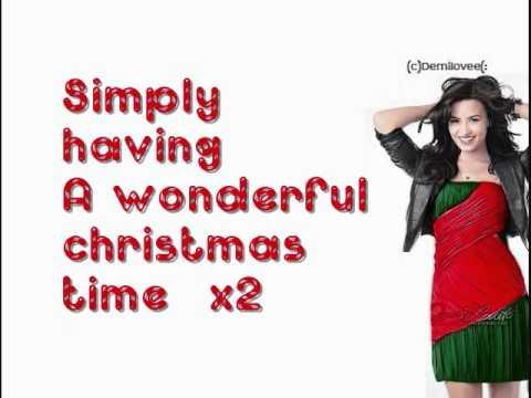 Demi Lovato- Wonderful Christmas Time With Lyrics