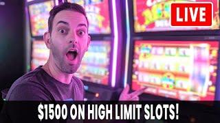 🔴 LIVE JACKPOT 🎰 w/ $1500 High Limit Room Slots