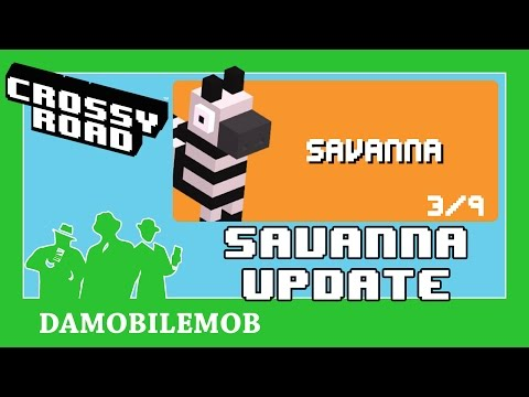 ★ CROSSY ROAD Savanna Update | 9 General Characters + 2 New Secret Characters (iOS Gameplay)