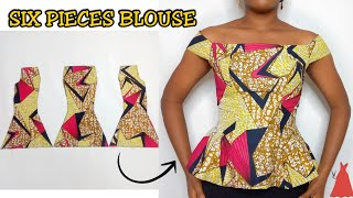 Download Mp3 How To Cut And Sew An Off Shoulder Six Pieces Blouse | Stitchadress |
