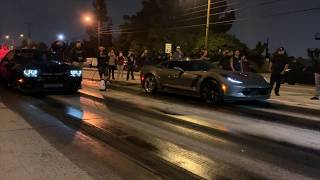 Hellcat REDEYE vs Corvette C7 Z06 ... $2200 street race