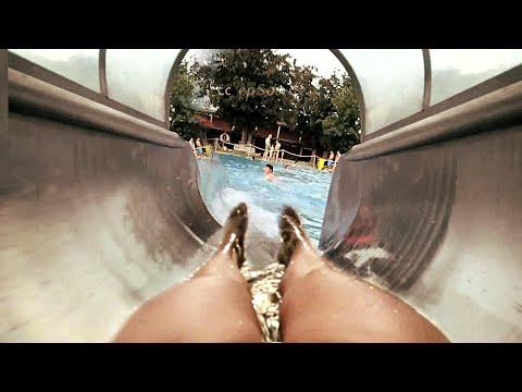 Wet Water Slide Adventure in Europe.