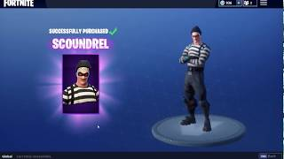 Buying The New Scoundrel Skin In Fortnite!