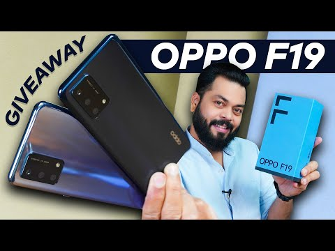 OPPO F19 Unboxing And First Impressions | Giveaway ⚡ 33W Flash Charge, AMOLED,5000mAh Battery & More