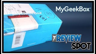 Subscription Spot | My Geek Box October 2017 Subscription UNBOXING!