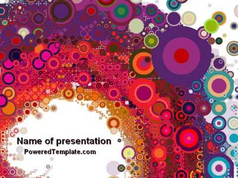 sixties paradise party powerpoint template by poweredtemplate com