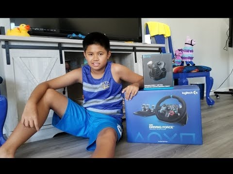 UNBOXING LOGITECH G29 DRIVING FORCE RACING WHEEL WITH SHIFTER FOR PS4 REVIEW