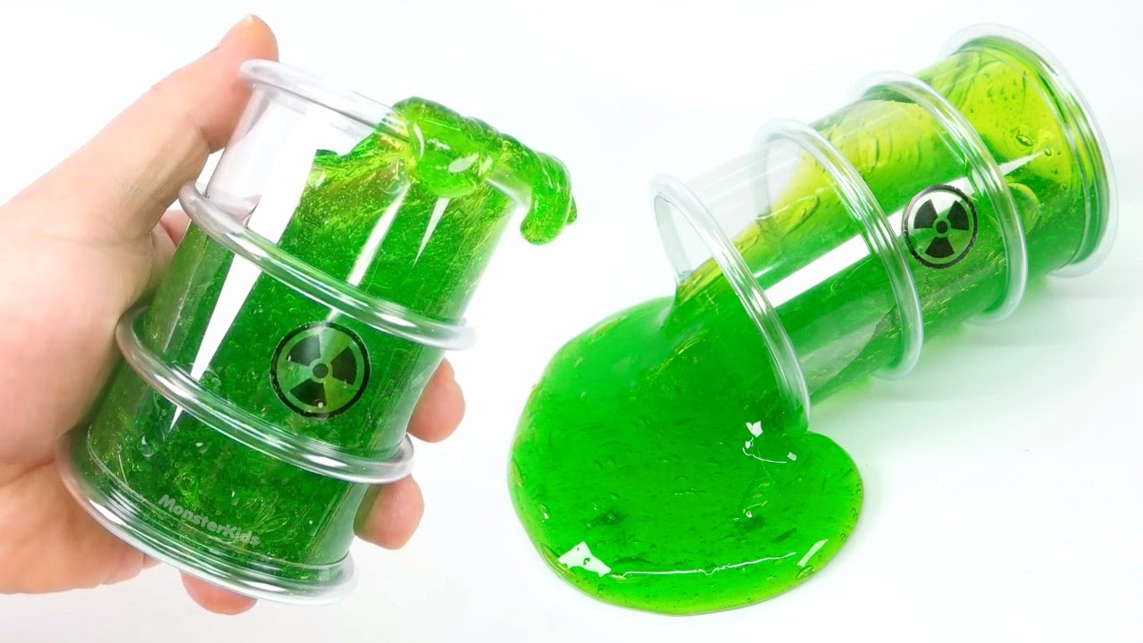 how to make runny green slime