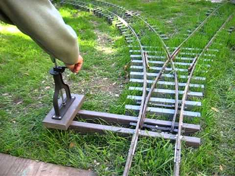 7 5 Inch Gauge Railroad Switch Stand Test Youtube