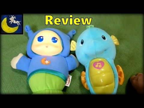 Review of Playskool Lullaby Gloworm vs Fisher Price Ocean Wonders Soothe & Glow Seahorse