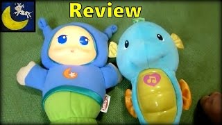 Review of Playskool Lullaby Gloworm vs Fisher Price Ocean Wonders Soothe & Glow Seahorse