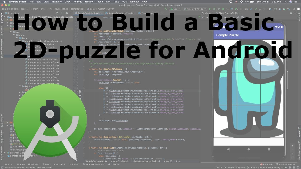 How to Build a Basic 2D-puzzle in Android Studio