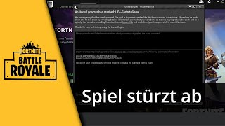 Fortnite Tutorial | Fortnite stürzt ab - 3 Lösungswege [Deutsch/HD]