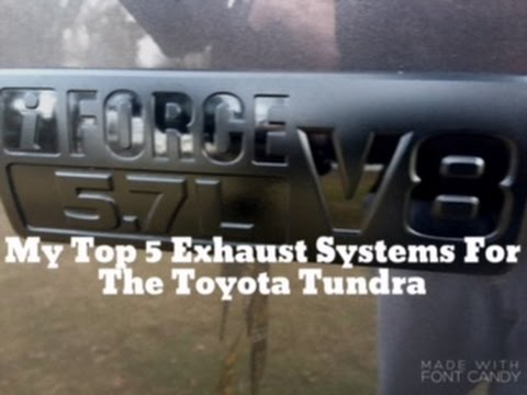 my top 5 dual exhaust systems for the toyota tundra