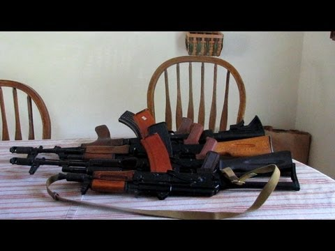 How to build an AK-47, AK-74, AKM during the 2013 gun panic. Complete video tutorial