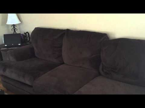 Bobs discount furniture microfiber couch review