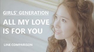 Gambar cover GIRLS' GENERATION(少女時代) - ALL MY LOVE IS FOR YOU (without Jessica) [Line Comparison]