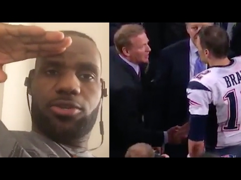 LeBron James, Kobe Bryant Salute Tom Brady on Super Bowl Win, Roger Goodell Offers AWKWARD Handshake