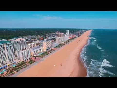DJI inspire Over Virginia Beach 4K