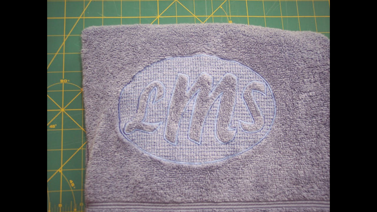 Brother pe design next embossed towels lesson youtube