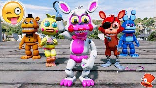 BRAND NEW MANGLE ANIMATRONIC!  ADVENTURE MANGLE FNAF WORLD! (GTA 5 Mods For Kids FNAF RedHatter)