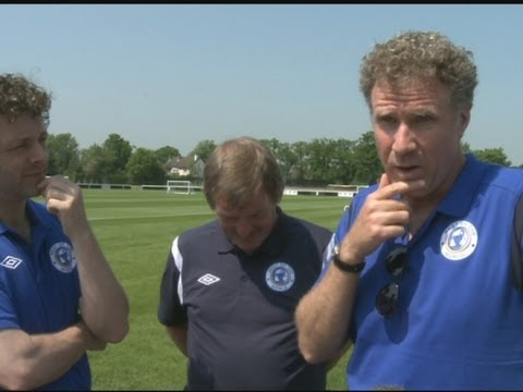 Anchorman's Will Ferrell talks about his big foot at Soccer Aid
