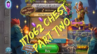 Lords Mobile Material Madness: 117062 Chest Opening Part Two