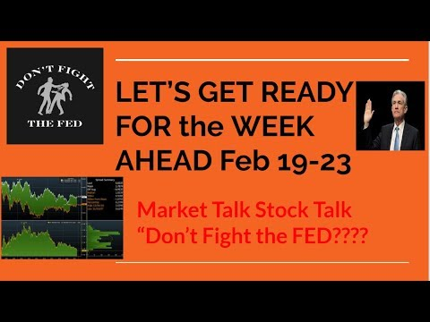 """DON""""T FIGHT THE FED Lets's Get Ready for The WEEK AHEAD 2/19 to 2/23"""